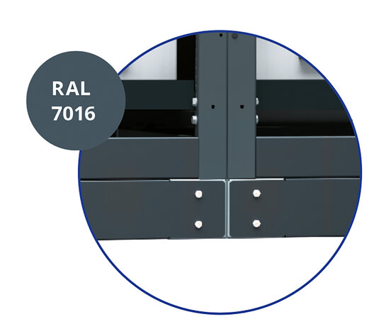 RAL 7016 Paintwork and base