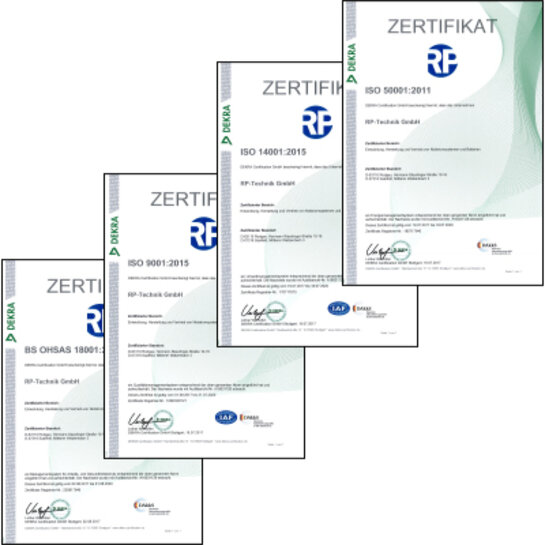 Certificates from RP-Technik